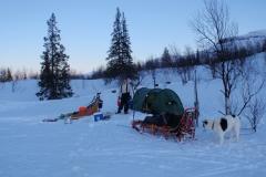14-Kväll-vid-tältet-ett-par-km-från-Pårtestugan